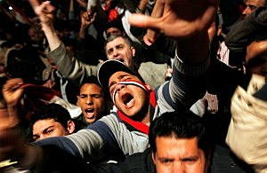 Crowds Rally In Tahrir Square As Mubarak Prepares To Address Egypt