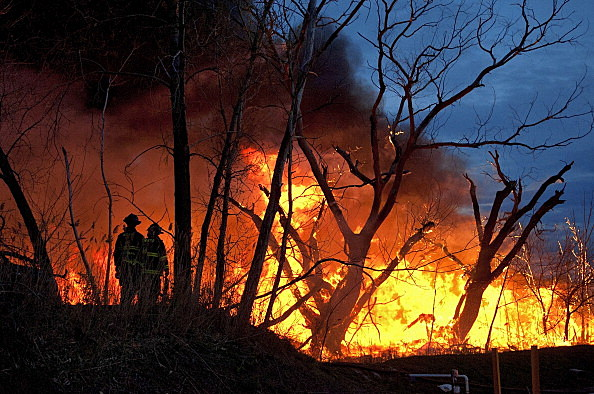 Wildfires Encroach On New Jersey's Meadowlands